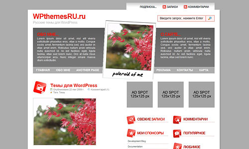 Фото тема для WordPress